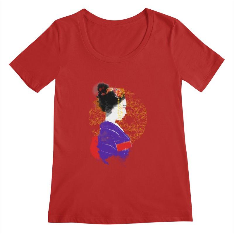 geishartistic Women's Scoopneck by kharmazero's Artist Shop