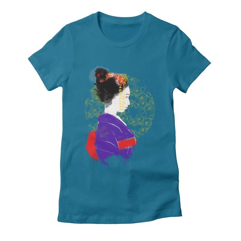 geishartistic Women's Fitted T-Shirt by kharmazero's Artist Shop