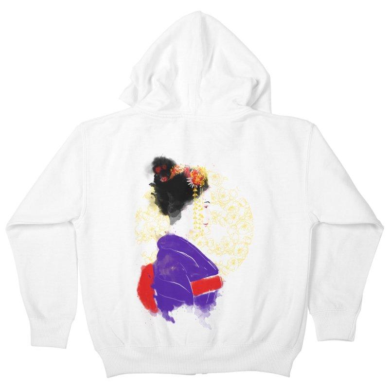 geishartistic Kids Zip-Up Hoody by kharmazero's Artist Shop