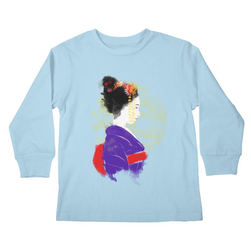 geishartistic Kids Longsleeve T-Shirt by kharmazero's Artist Shop