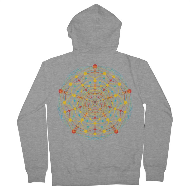 Neural Mandala 2 Men's Zip-Up Hoody by kharmazero's Artist Shop
