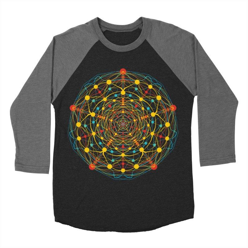 Neural Mandala 2 Men's Baseball Triblend T-Shirt by kharmazero's Artist Shop