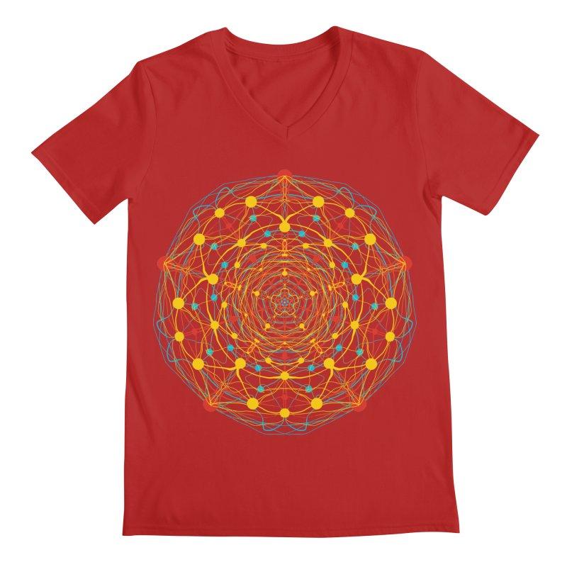 Neural Mandala 2 Men's V-Neck by kharmazero's Artist Shop