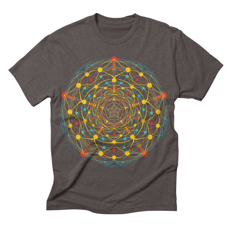 Neural Mandala 2 Men's Triblend T-shirt by kharmazero's Artist Shop