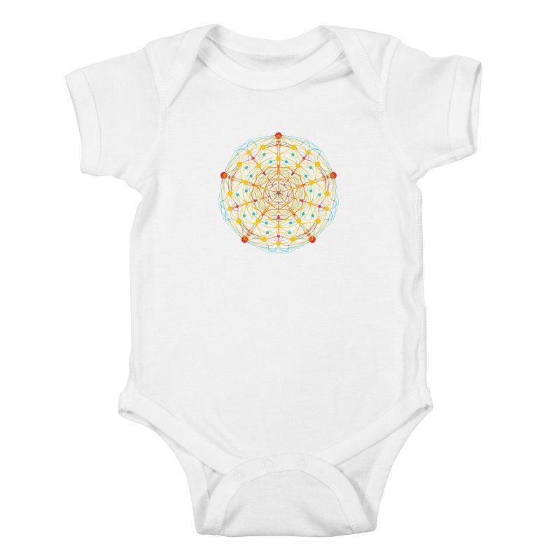 Neural Mandala 2 Kids Baby Bodysuit by kharmazero's Artist Shop
