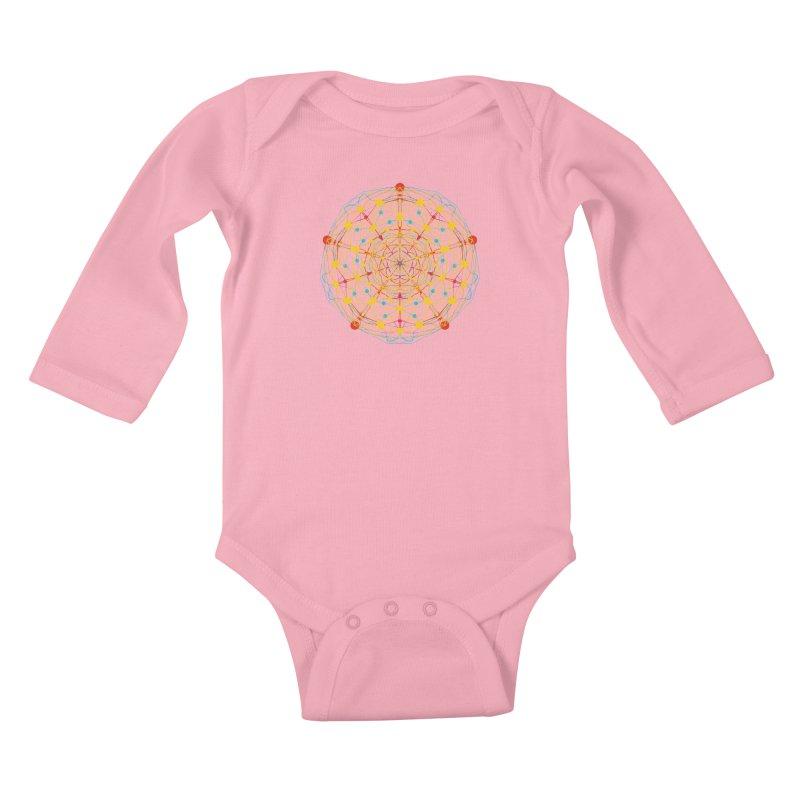 Neural Mandala 2 Kids Baby Longsleeve Bodysuit by kharmazero's Artist Shop