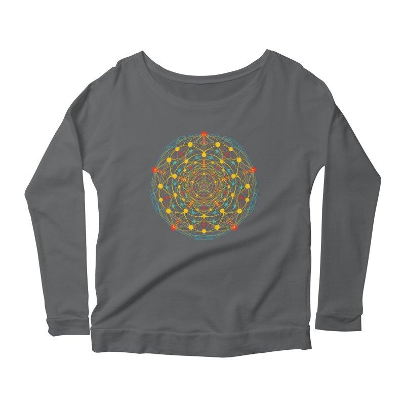 Neural Mandala 2 Women's Longsleeve Scoopneck  by kharmazero's Artist Shop