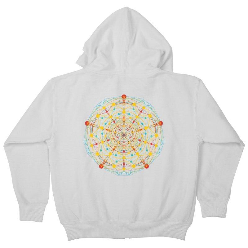 Neural Mandala 2 Kids Zip-Up Hoody by kharmazero's Artist Shop