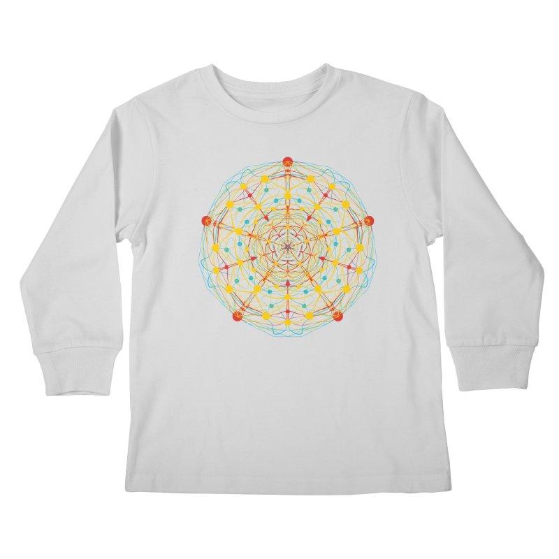 Neural Mandala 2 Kids Longsleeve T-Shirt by kharmazero's Artist Shop