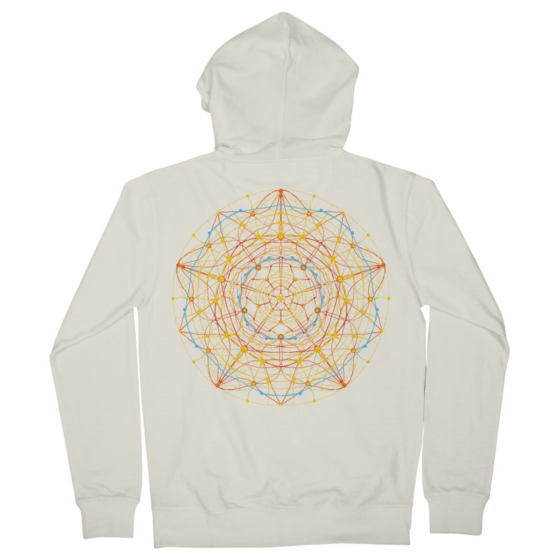 neural mandala 1 Men's Zip-Up Hoody by kharmazero's Artist Shop