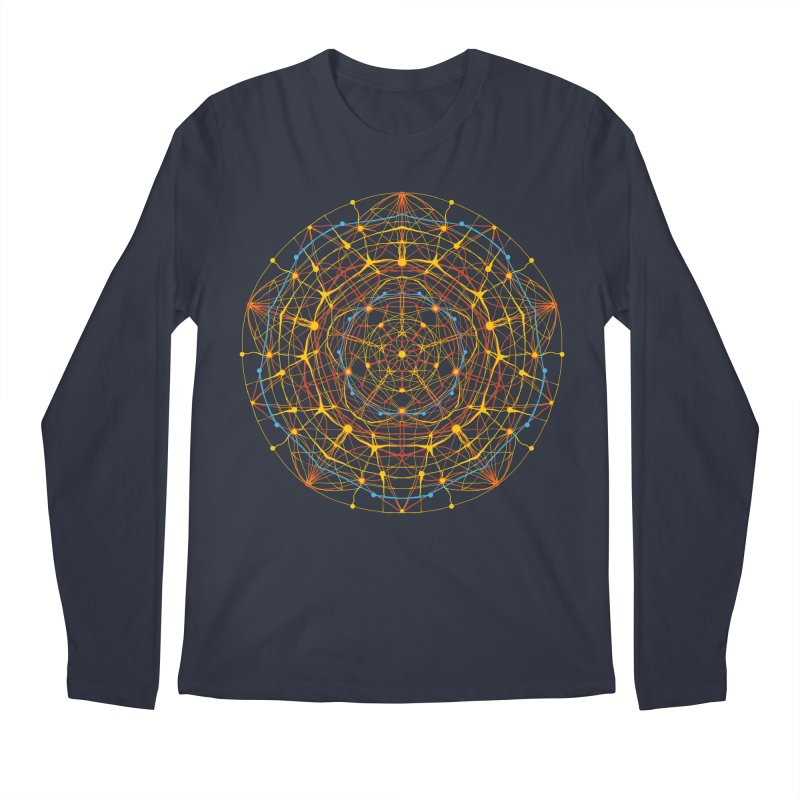 neural mandala 1 Men's Longsleeve T-Shirt by kharmazero's Artist Shop