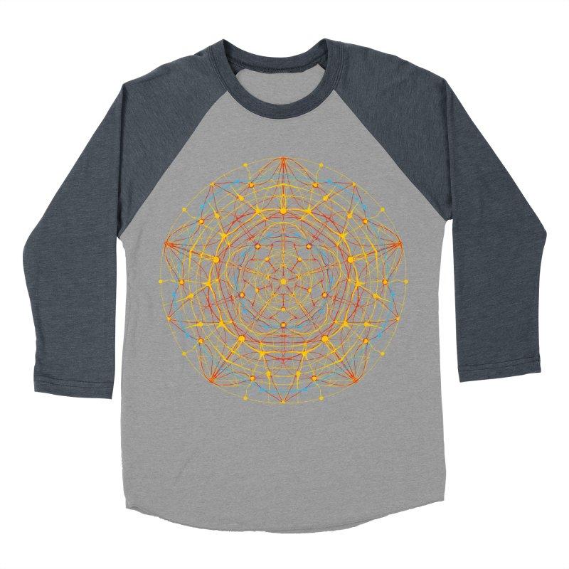 neural mandala 1 Men's Baseball Triblend T-Shirt by kharmazero's Artist Shop