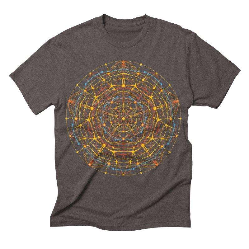 neural mandala 1 Men's Triblend T-shirt by kharmazero's Artist Shop