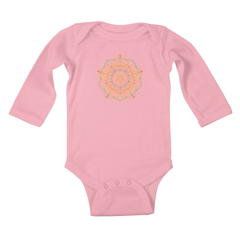 neural mandala 1 Kids Baby Longsleeve Bodysuit by kharmazero's Artist Shop