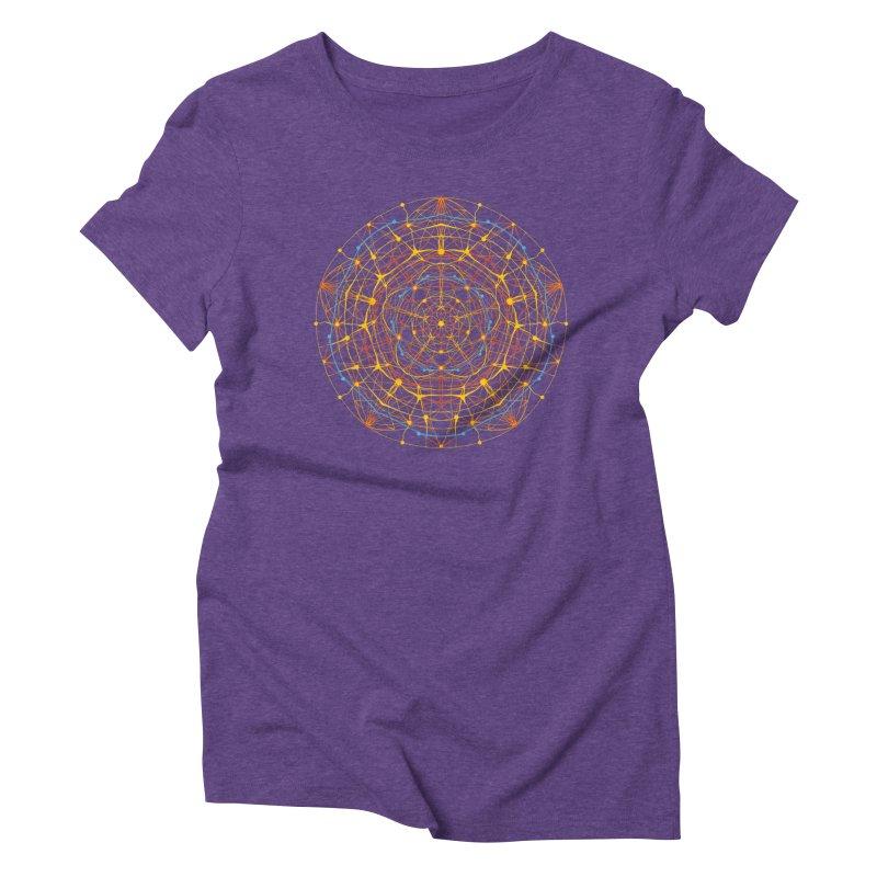 neural mandala 1 Women's Triblend T-shirt by kharmazero's Artist Shop