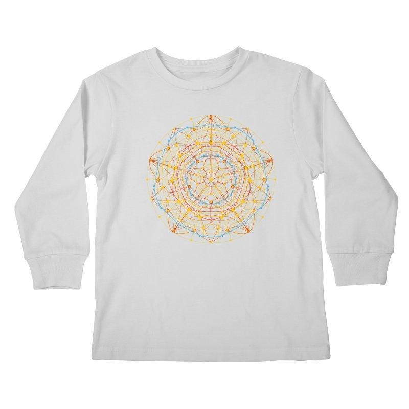 neural mandala 1 Kids Longsleeve T-Shirt by kharmazero's Artist Shop
