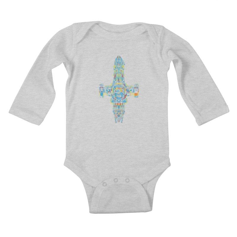 serenity mosaic Kids Baby Longsleeve Bodysuit by kharmazero's Artist Shop