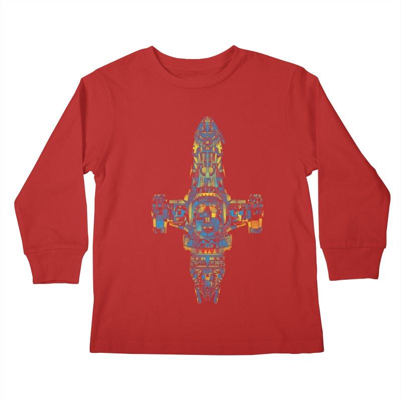 serenity mosaic Kids Longsleeve T-Shirt by kharmazero's Artist Shop