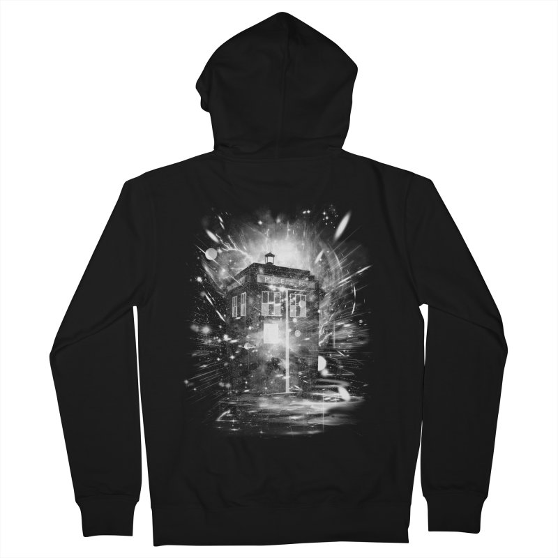 time and space ship Men's Zip-Up Hoody by kharmazero's Artist Shop