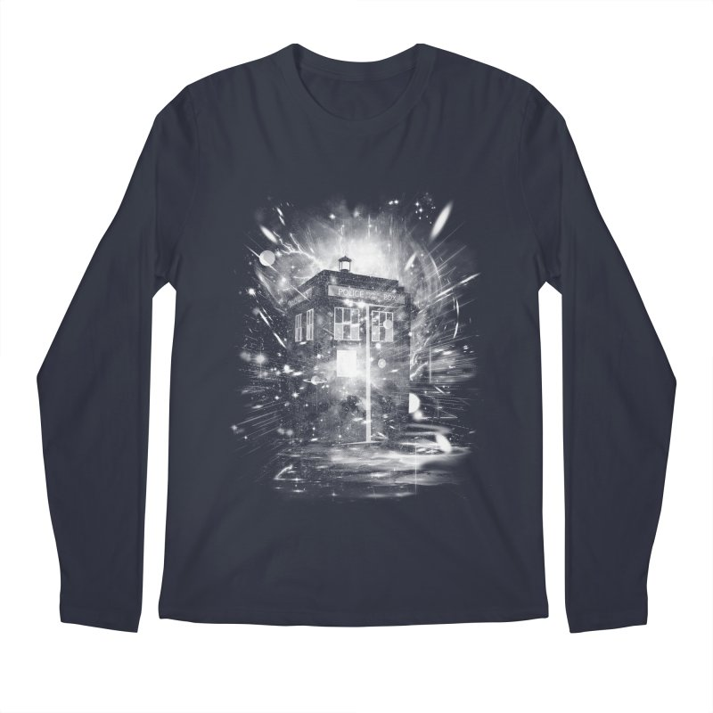 time and space ship Men's Longsleeve T-Shirt by kharmazero's Artist Shop