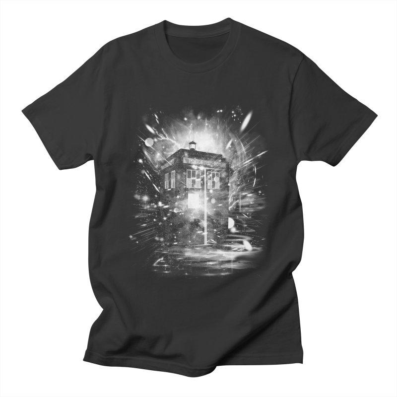 time and space ship Men's T-shirt by kharmazero's Artist Shop