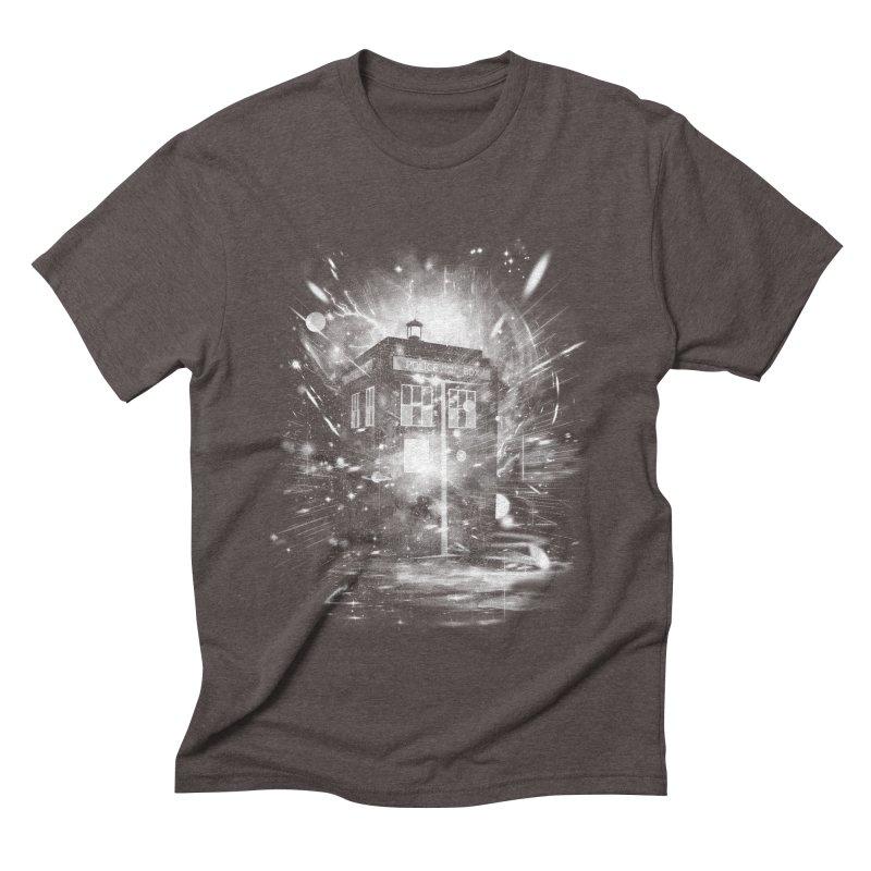 time and space ship Men's Triblend T-shirt by kharmazero's Artist Shop