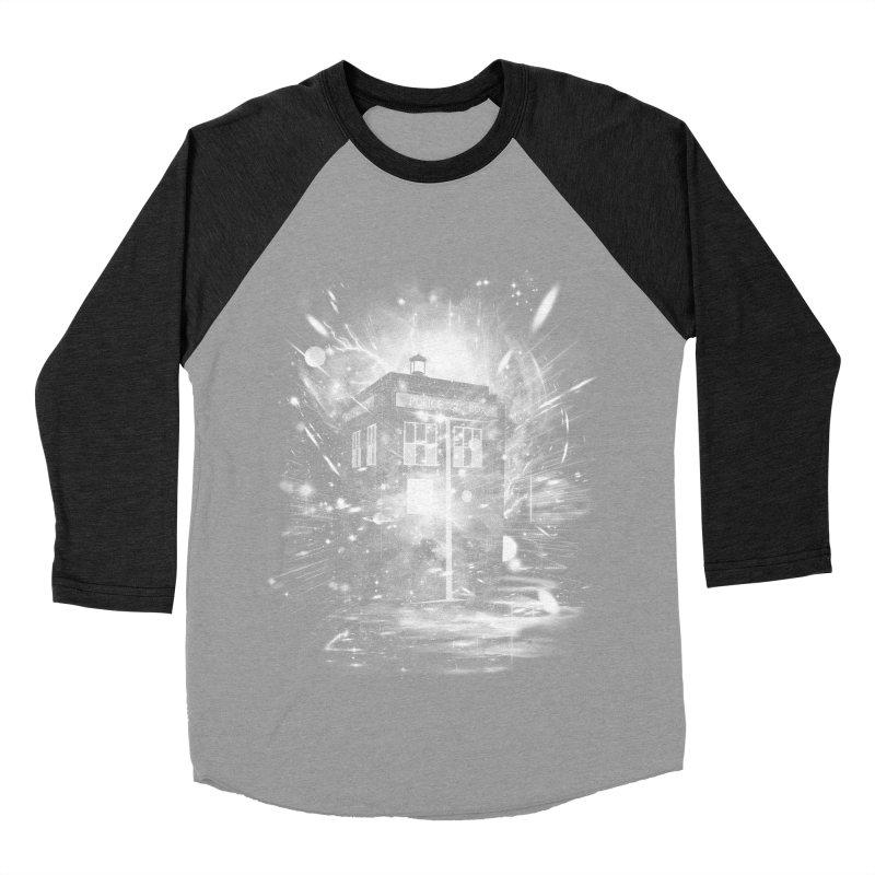 time and space ship Women's Baseball Triblend T-Shirt by kharmazero's Artist Shop