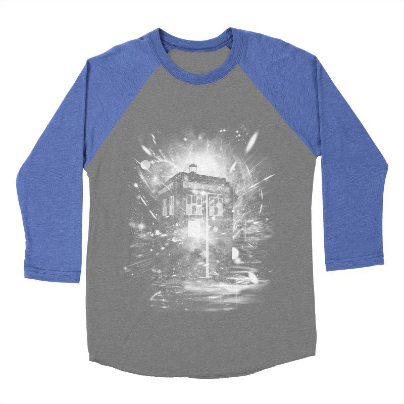 time and space ship Men's Baseball Triblend T-Shirt by kharmazero's Artist Shop