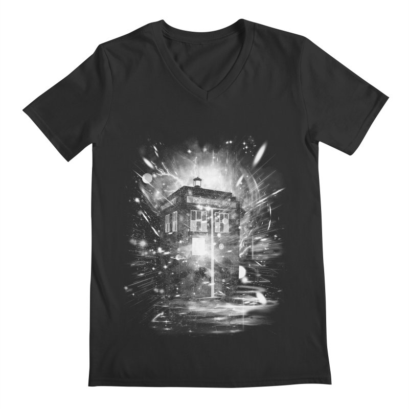 time and space ship Men's V-Neck by kharmazero's Artist Shop