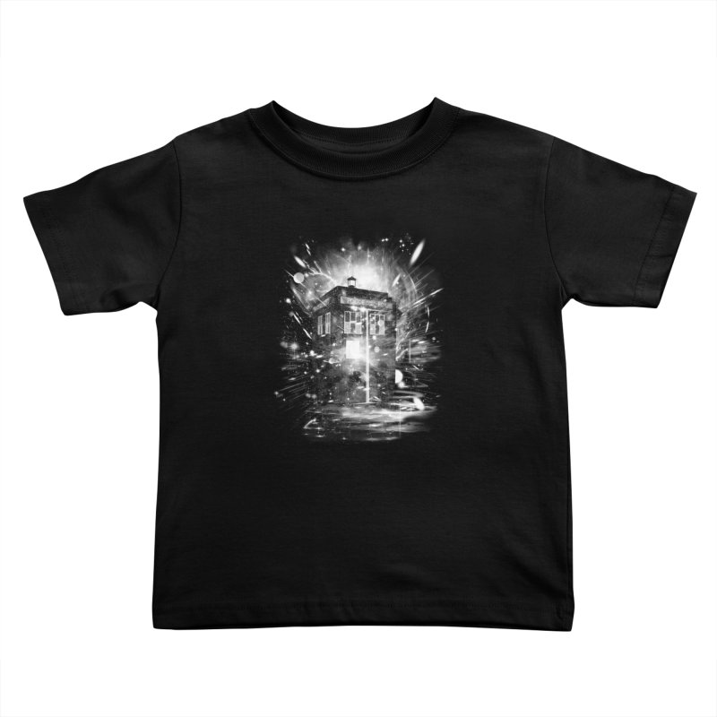 time and space ship Kids Toddler T-Shirt by kharmazero's Artist Shop