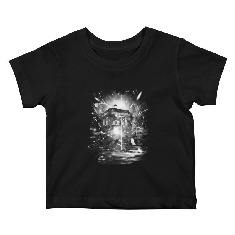 time and space ship Kids Baby T-Shirt by kharmazero's Artist Shop