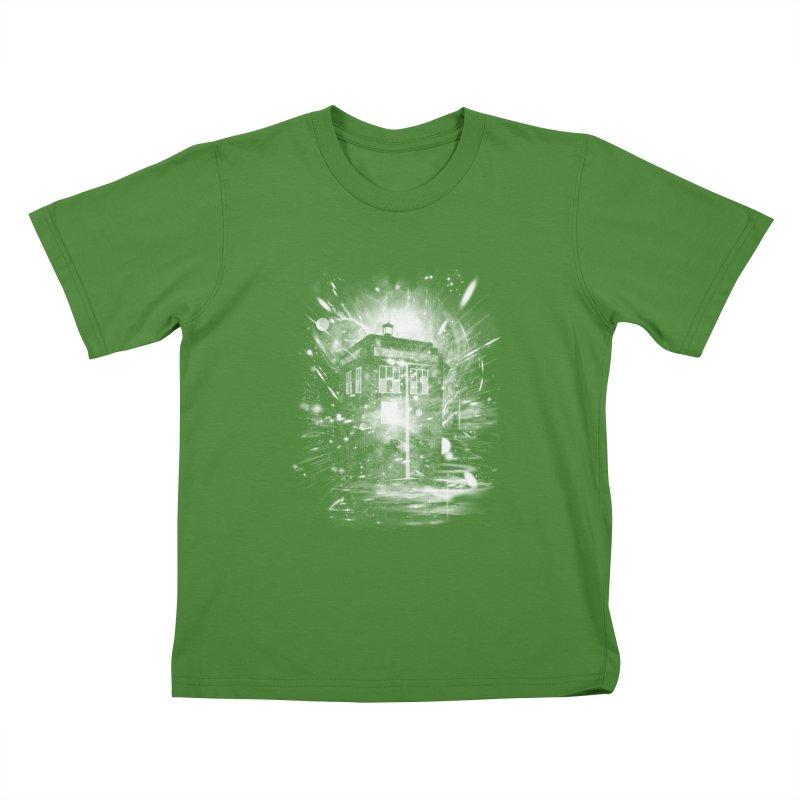time and space ship Kids T-shirt by kharmazero's Artist Shop