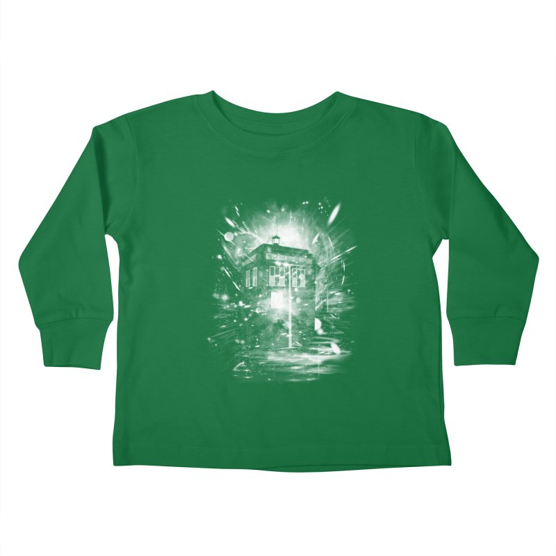 time and space ship Kids Toddler Longsleeve T-Shirt by kharmazero's Artist Shop