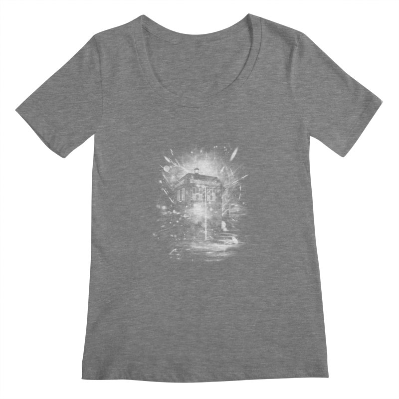 time and space ship Women's Scoopneck by kharmazero's Artist Shop