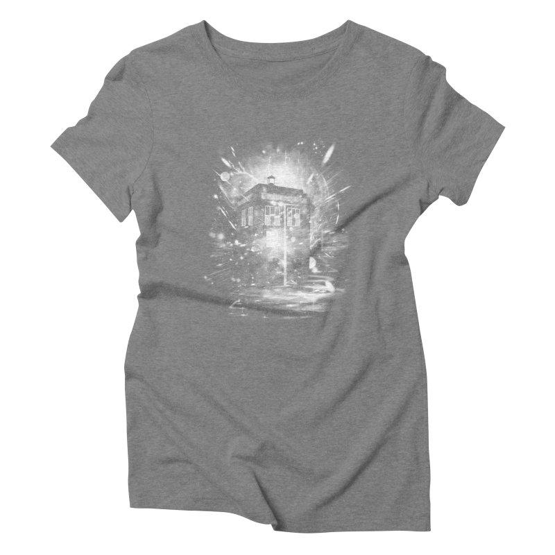 time and space ship Women's Triblend T-shirt by kharmazero's Artist Shop