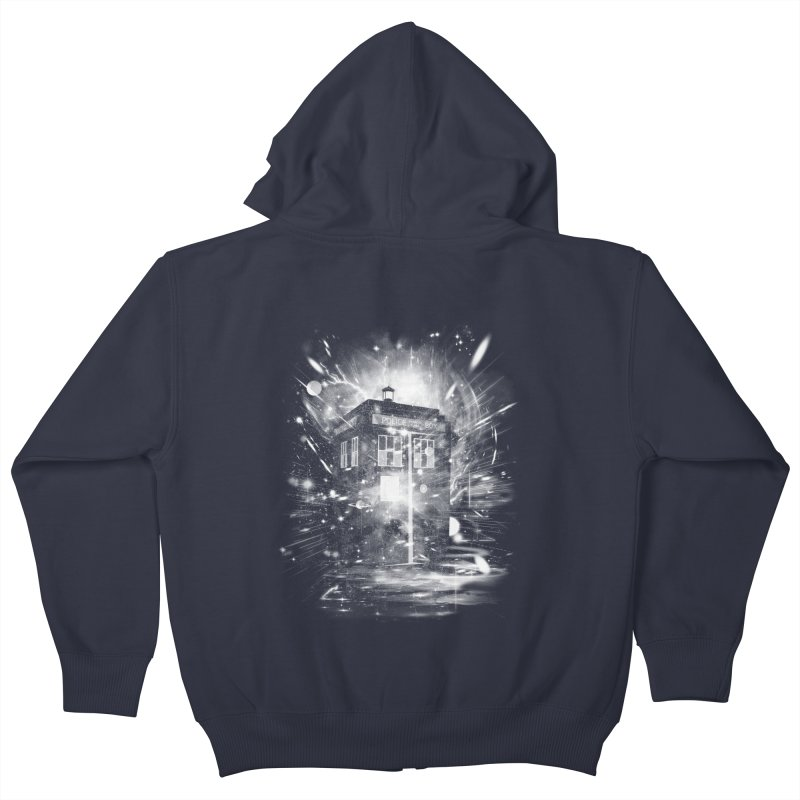 time and space ship Kids Zip-Up Hoody by kharmazero's Artist Shop