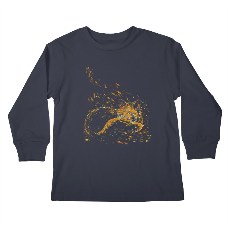 cameo fox Kids Longsleeve T-Shirt by kharmazero's Artist Shop
