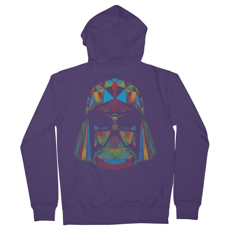 dark side of the polygons Women's Zip-Up Hoody by kharmazero's Artist Shop