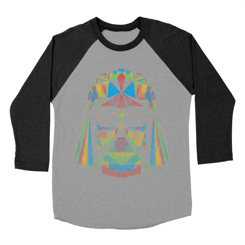 dark side of the polygons Women's Baseball Triblend T-Shirt by kharmazero's Artist Shop