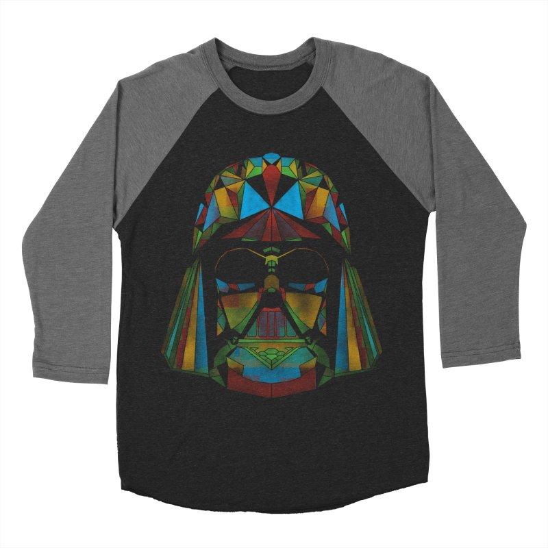 dark side of the polygons Men's Baseball Triblend T-Shirt by kharmazero's Artist Shop
