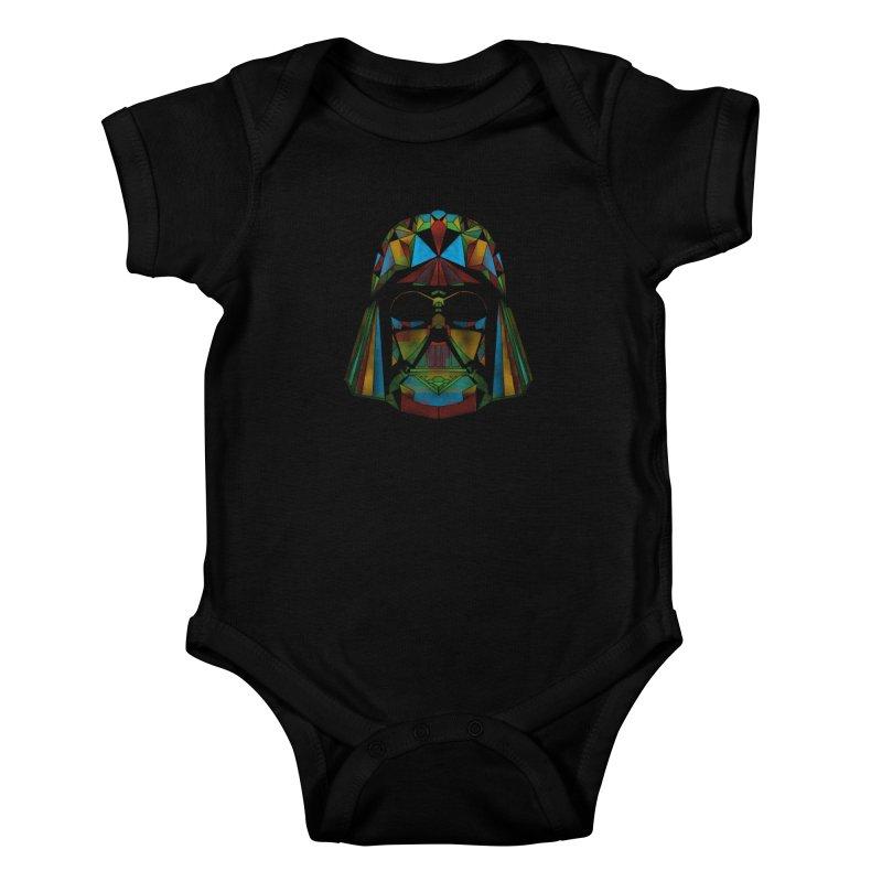 dark side of the polygons Kids Baby Bodysuit by kharmazero's Artist Shop