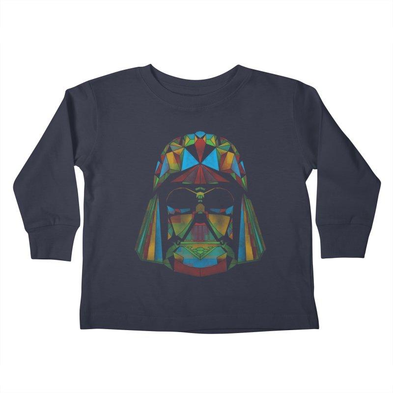dark side of the polygons Kids Toddler Longsleeve T-Shirt by kharmazero's Artist Shop