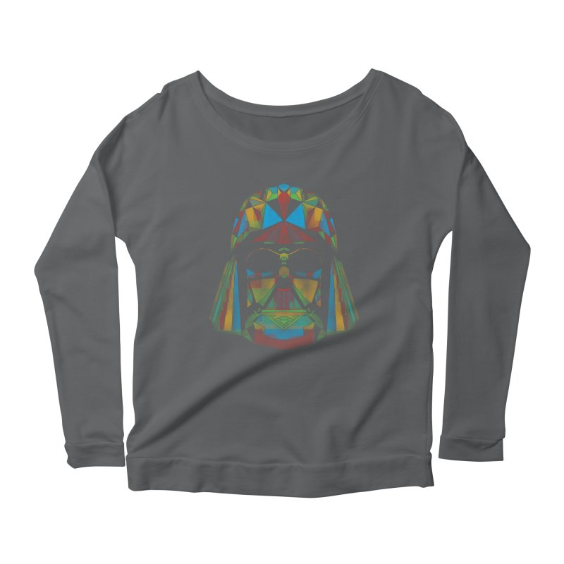 dark side of the polygons Women's Longsleeve Scoopneck  by kharmazero's Artist Shop