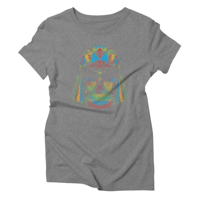 dark side of the polygons Women's Triblend T-shirt by kharmazero's Artist Shop