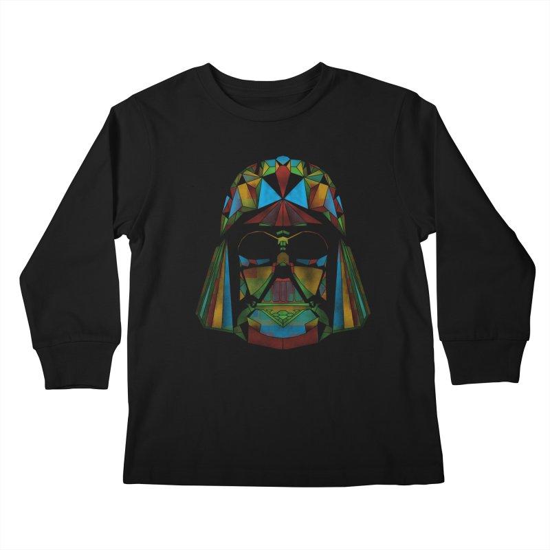 dark side of the polygons Kids Longsleeve T-Shirt by kharmazero's Artist Shop