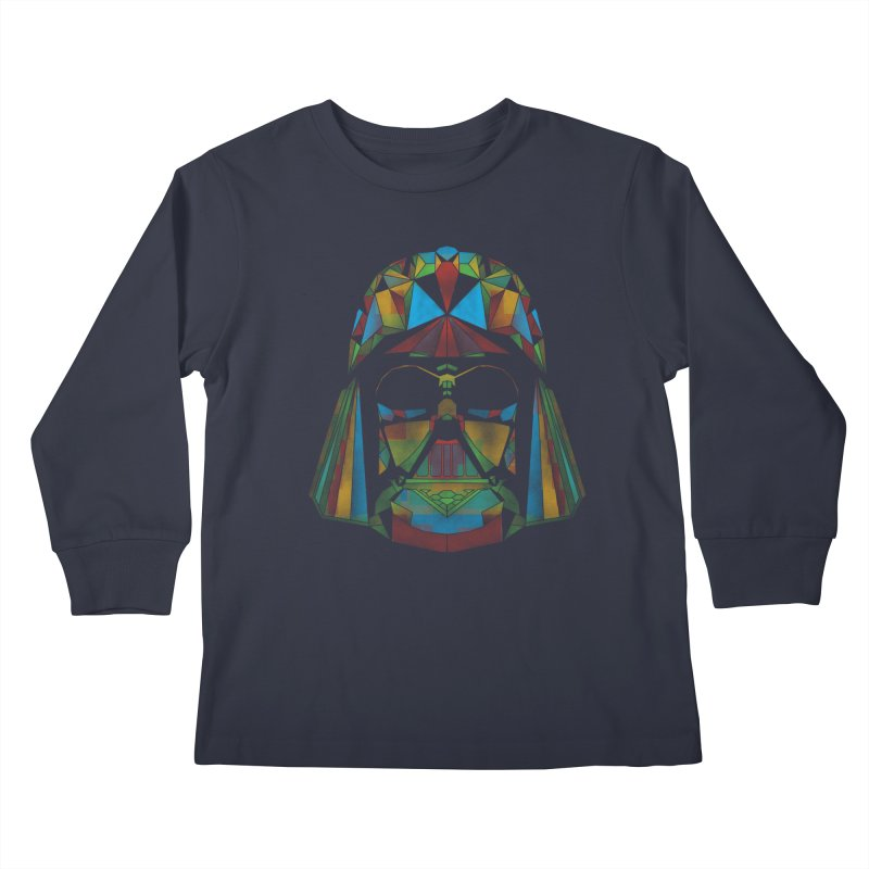 dark side of the polygons Kids Longsleeve T-Shirt by kharmazero's Artist Shop
