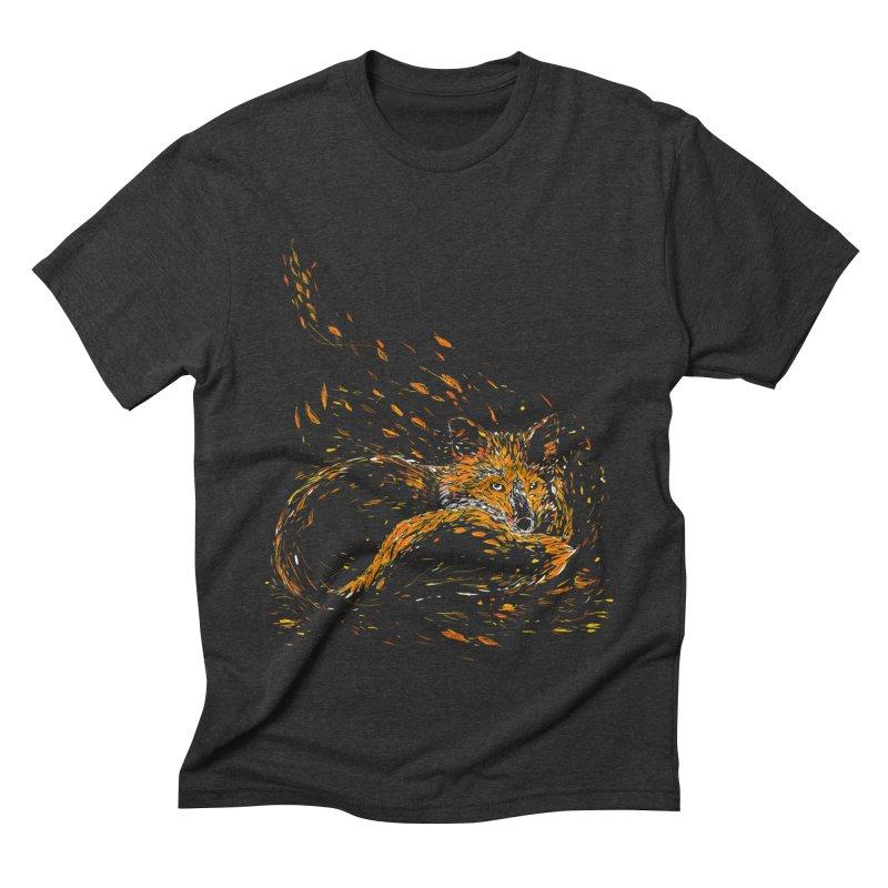 cameo fox Men's Triblend T-shirt by kharmazero's Artist Shop