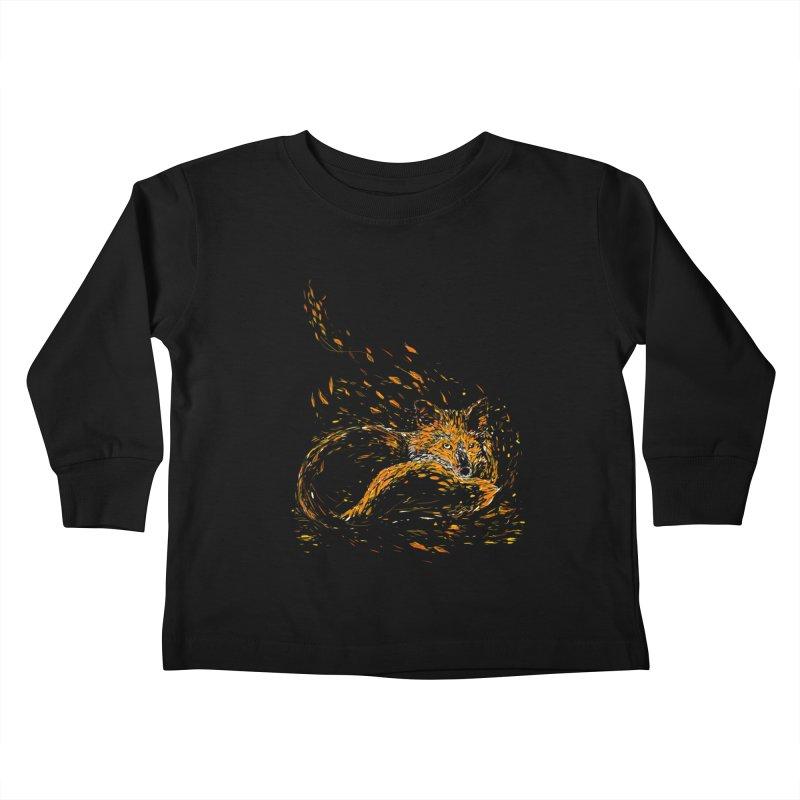 cameo fox Kids Toddler Longsleeve T-Shirt by kharmazero's Artist Shop
