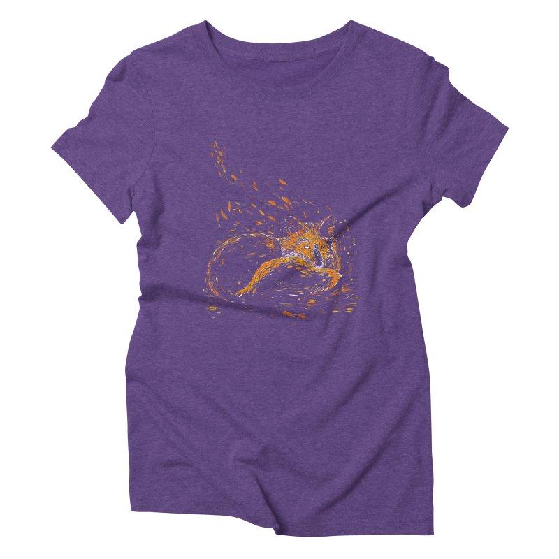 cameo fox Women's Triblend T-shirt by kharmazero's Artist Shop