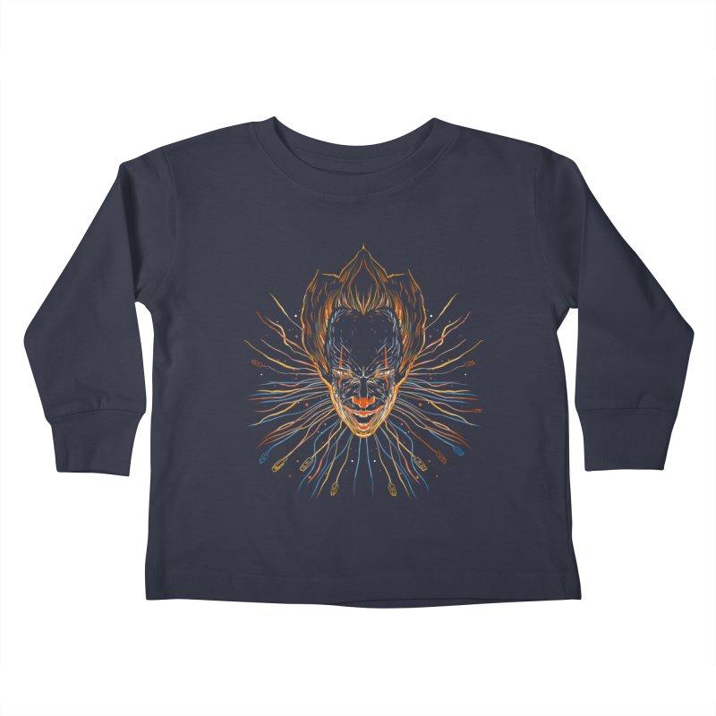 IT clown Kids Toddler Longsleeve T-Shirt by kharmazero's Artist Shop